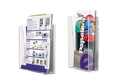 PORTAFOLLETOS MURALES 1 COMPARTIMENTO. Hendidura frontal que facilita el acceso a los folletos o documentos.