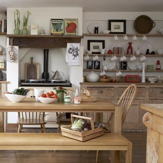 Darby Butchers Block Marble Top Rustic Country Kitchenscountry