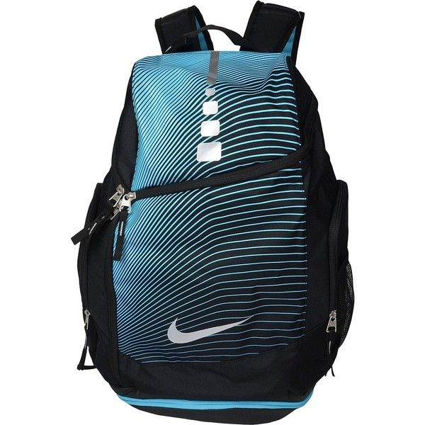ea7058c775d5 Nike Hoops Elite Max Air Backpack GR (Black Omega Blue Metallic... ( 85) ❤  liked on Polyvore featuring bags