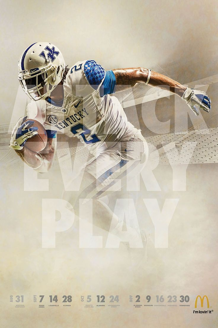 UK Athletics and McDonald's have once again teamed up to distribute the 2013 University of Kentucky football schedule poster