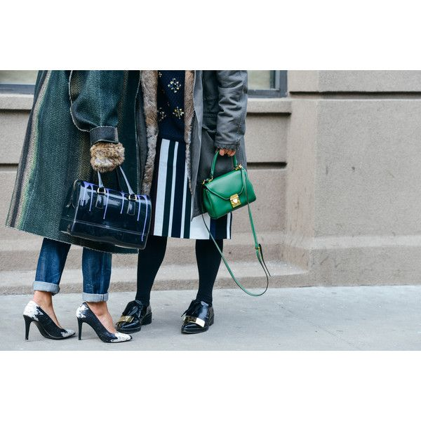Tommy Ton Shoots the Best Street Style at the Fall '15 Shows - Gallery... ❤ liked on Polyvore featuring backgrounds and street style