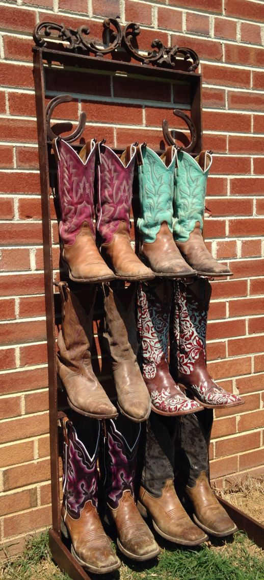 Cowboy Boot Rack by TheAppalachianGypsy on Etsy