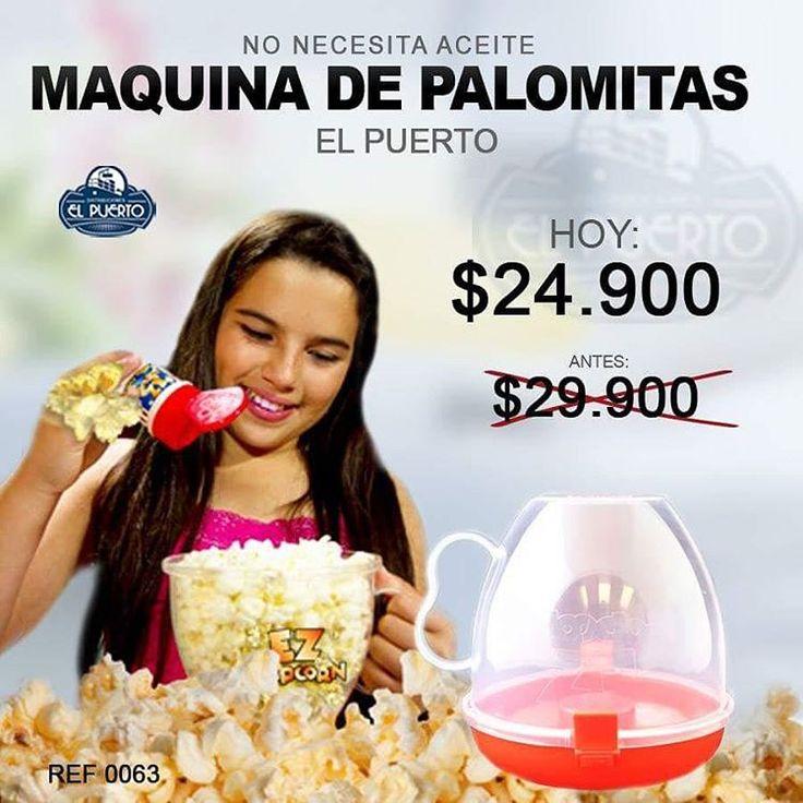 """38 Me gusta, 5 comentarios - El Puerto (@el_puerto_importados) en Instagram: """"MAQUINA DE PALOMITAS $24.900 NO NECESITA ACEITE, SOLO MAÍZ PARA CRISPETAS.. Descubrirá lo fácil que…"""""""