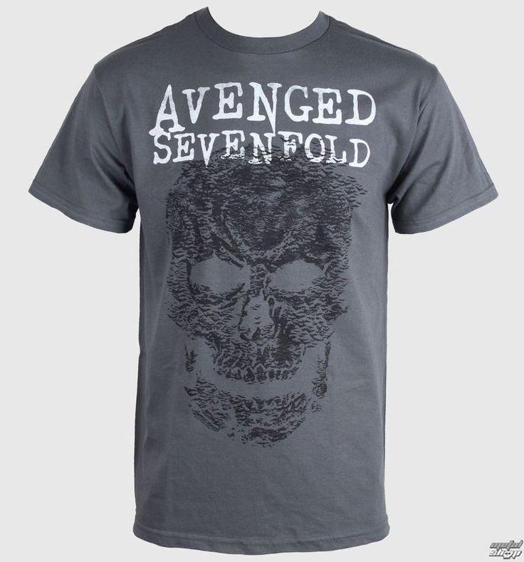 tričko pánske Avenged Sevenfold - Skull - Grey - BRAVADO