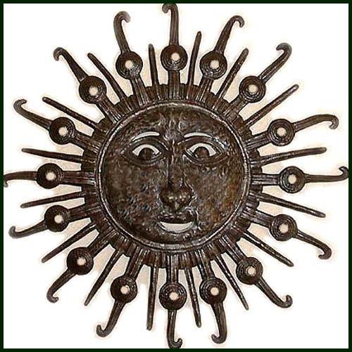 22 best ideas about Haitian Metal Sun Moon Decorative Wall Art