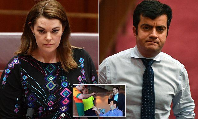 Far-right group says their next target is Senator Sarah Hanson-Young