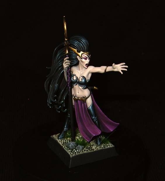 Warhammer FB | Dark Elves | Dark Elf Sorceress #warhammer #ageofsigmar #sigmar…