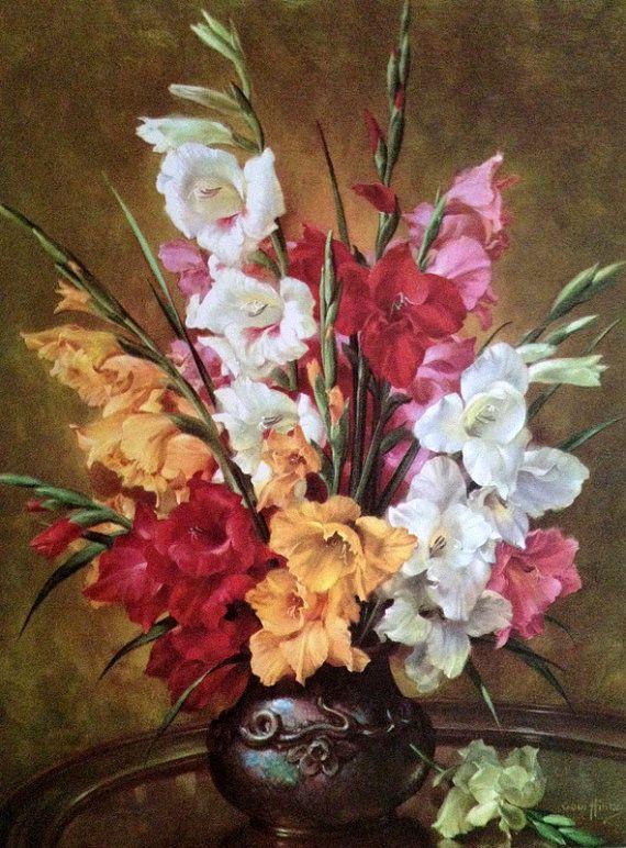 Живые цветы, букет гладиолусов лондонской национальной галереи