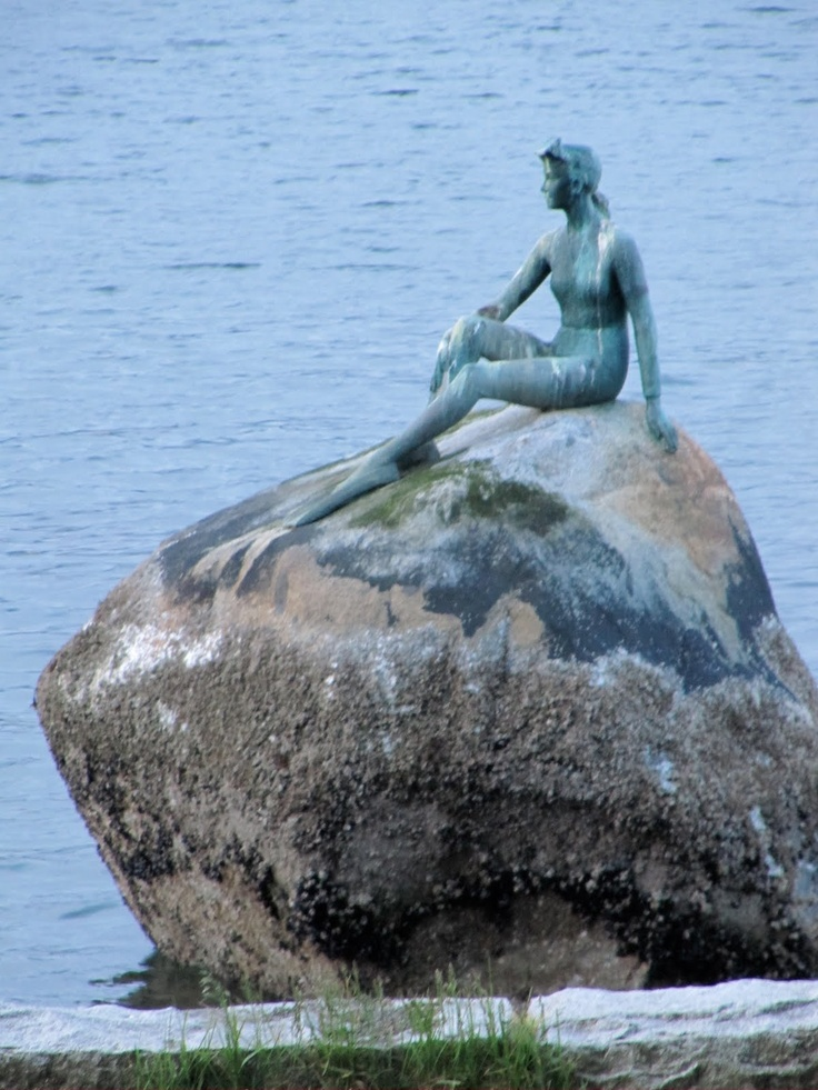 Mermaid in Stanley Park - just along the seawall.  (Photo by Lynda G.)