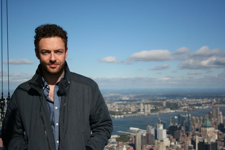 "October 16, 2015: ""The Walking Dead"" actor Ross Marquand takes advantage of New York's beautiful fall weather with a visit to the top of the Empire State Building!"