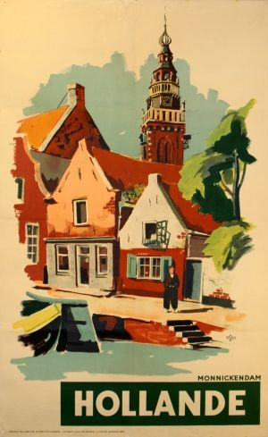 Original Vintage Posters -> Travel Posters -> Holland - Monnickendam - AntikBar