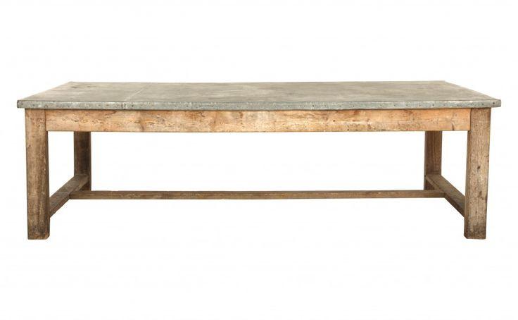 Table bois zinc