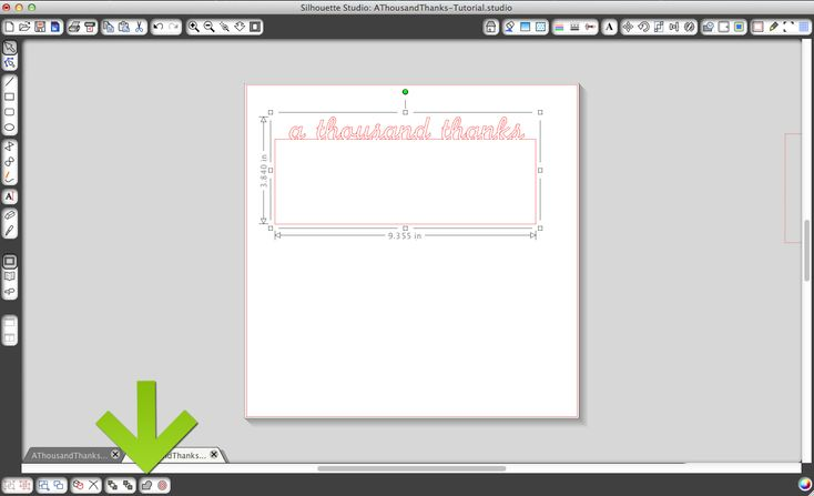 Letter-Sized Thank You Card - Silhouette Tutorial & Free Cut File by The Thinking Closet