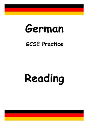 German GCSE Exam Style Reading Tasks