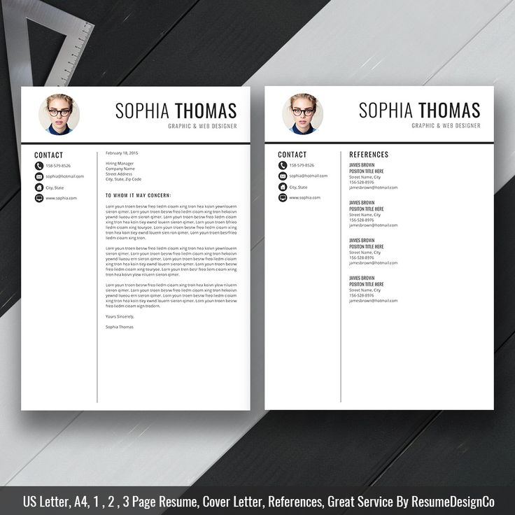2020 MS Word Resume Template, Cover Letter and References