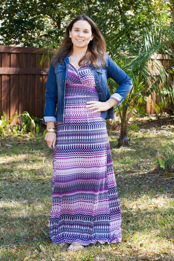 Xoxo pointelle knit maxi dress