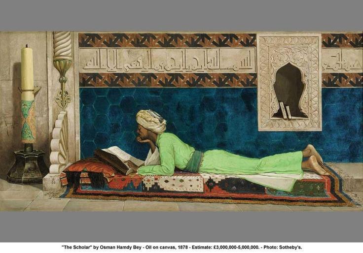"""Osman Hamdi Bey """"The Scholar"""" 1878"""