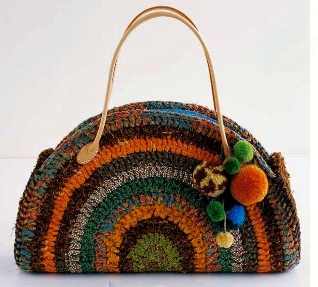 how to make a t-shirt yarn crochet bag