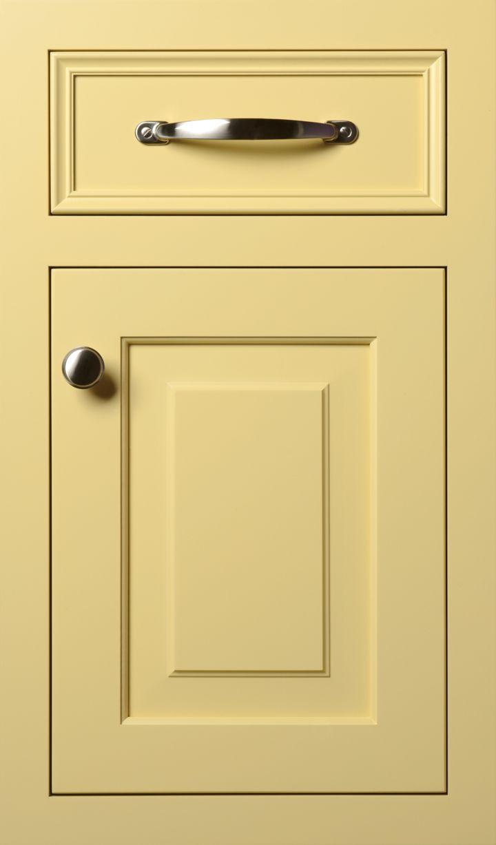 Custom Color Amish butter door #yellow #cabinets #kitchen
