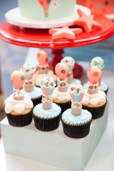 Cupcakes - Festa tema Balões | Macetes de Mãe