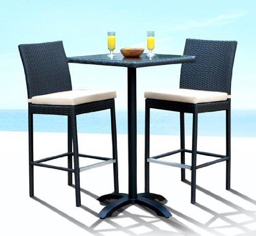 Outdoor Patio Wicker Furniture New Resin 3 Pc Bar Table Barstool Set $599.00  sc 1 st  Pinterest & 30 best Outdoor Patio Furniture Sets images on Pinterest | Decks ...