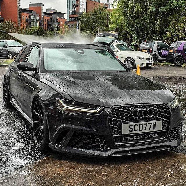 Wet RS6  follow @garage_borla @garage_borla @garage_borla  By@supercarsofmanchester