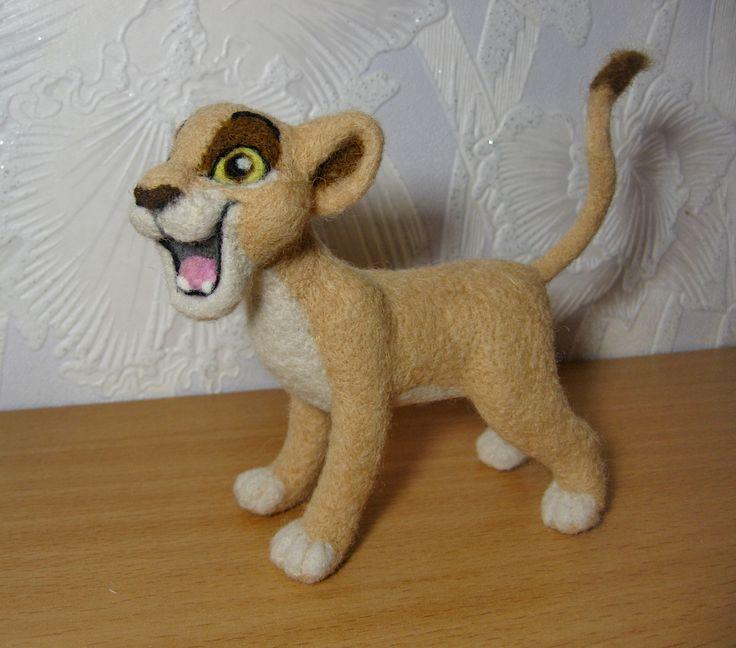 сухое валяние,львица Киара,  из мультика Король Лев.
