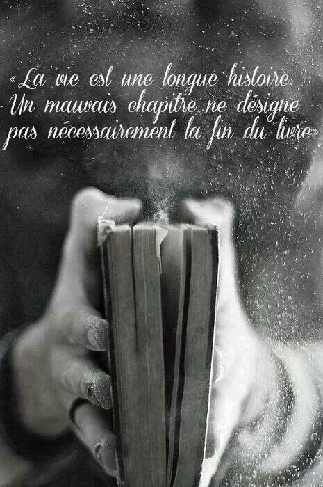 La vie est une longue histoire, un mauvais chapitre ne signifie pas nécessairement la fin d livre