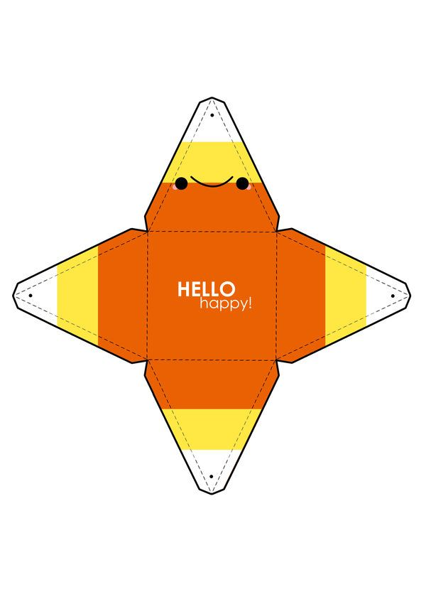 Candy Corn Box Template by hellohappycrafts on deviantART