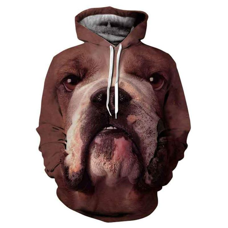 Hot Sale Brand Dog Printed Hoodies Men Cute Animals Print Panda,Cat,Wolf,Pullovers Woman/Man Plus Size Male Hooded Sweatshirt