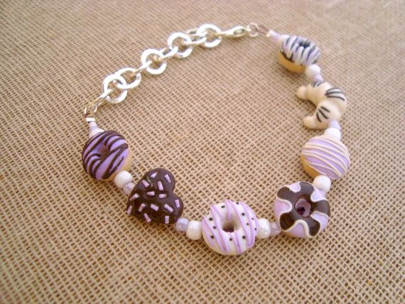 Check out this item in my Etsy shop https://www.etsy.com/listing/224202309/pastel-lilac-and-chocolate-donut