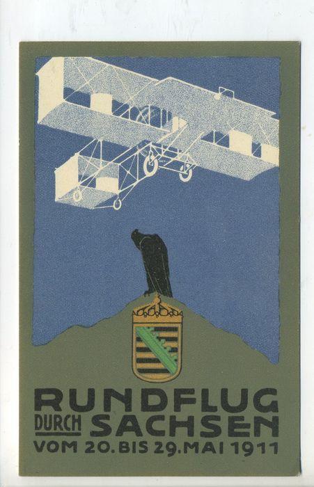 Online veilinghuis Catawiki:  Luchtvaart Luftfahrt Aviation Vliegtuig Airplain - Art Deco 2x