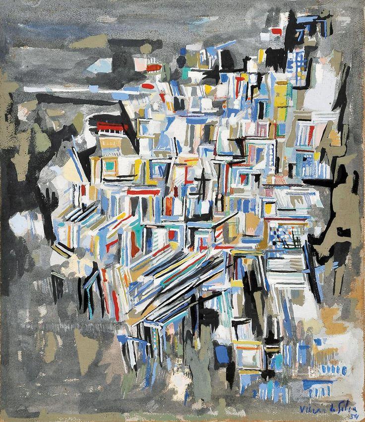 """Autor: MARIA HELENA VIEIRA DA SILVA - 1908-1992 Designação: """"Composition"""""""