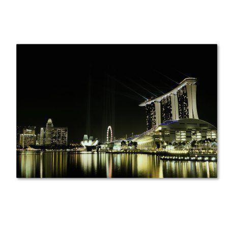 Trademark Fine Art 'Night In The City' Canvas Art by Hardibudi, Size: 16 x 24, Multicolor