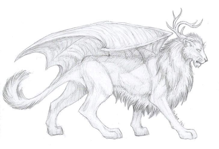 Картинки карандашом мифических существ
