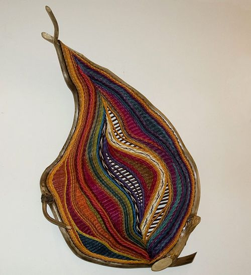 Montana Blue Heron - have seen this or a similar piece at the tents in Scottsdale wonderful creative freeform art weaving