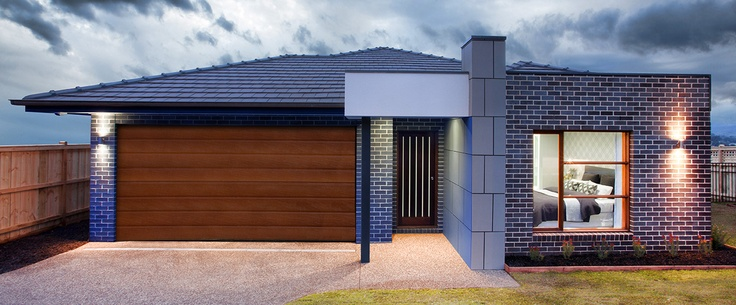 Contemporary facade option with various textures and features. Birchgrove home design. http://www.hotondo.com.au/home-design-birchgrove193_587.aspx