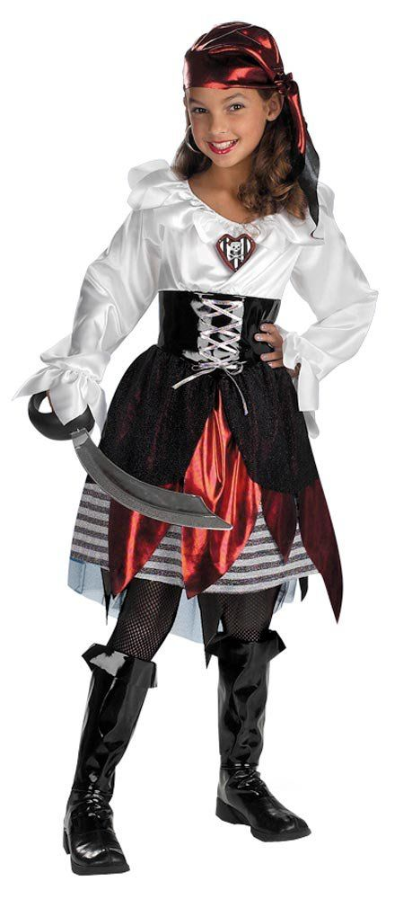 girls pirate lass kids costume girls pirate costumes mr costumes - Halloween Pirate Costume Ideas