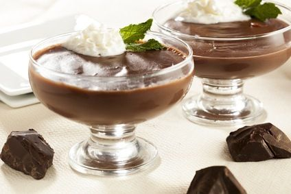 Chocolade dessert Bevat 17,5 gram eiwit per portie