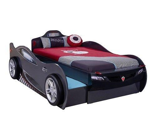 Autoletto Coupe con letto per gli ospiti (antracite) (90x190 cm – 90x180 cm) - Champion Racer - 20.03.1307.00 - Champion Racer - Camerette di macchina - Camerette per bambini