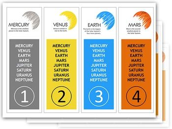 SOLAR SYSTEM Planets Bookmarks  Fantastic Planets Bookmarks with place for student and teacher name or planets names in order.   Bookmarks contain my unique graphics!  Saved in PDF format :)  Come on check PREVIEW file!  Check also my SOLAR SYSTEM Planets Poster with basic info :)