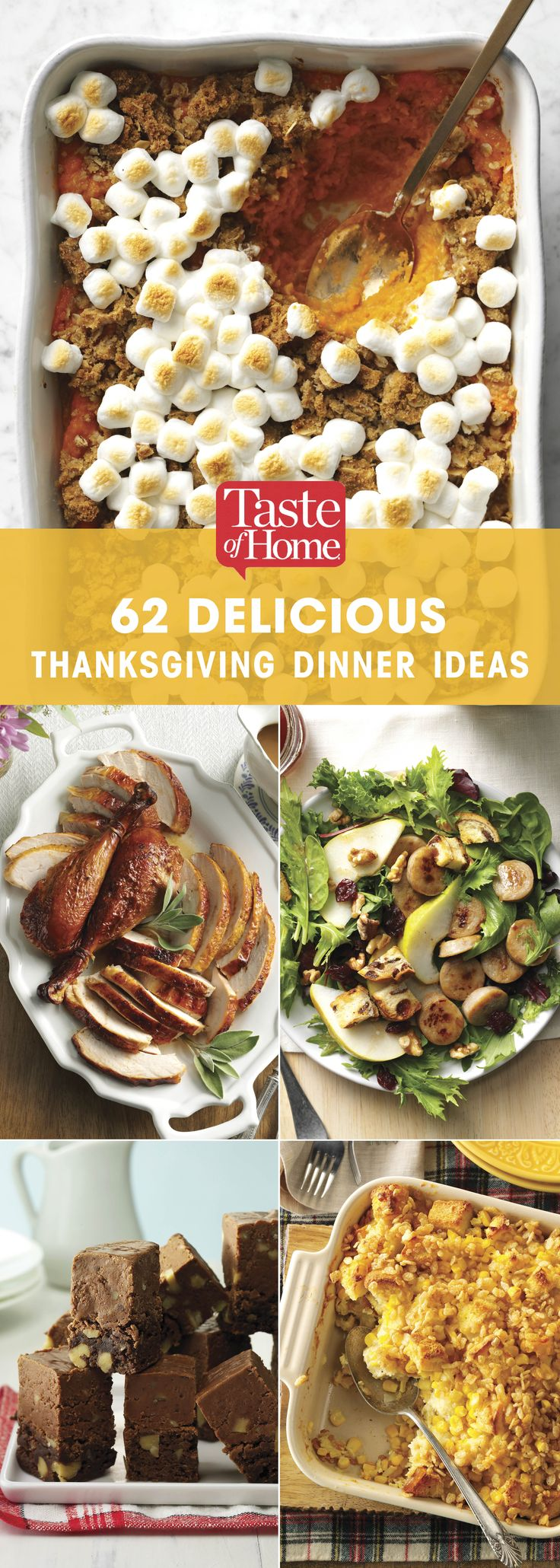 62 Delicious Thanksgiving Dinner Ideas (from Taste of Home)