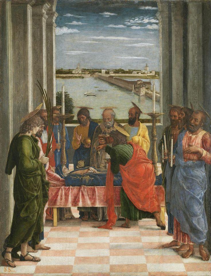 Andrea Mantegna - Tránsito de la Virgen, h. 1462, 54,5 x 42 cm, Madrid, Museo del Prado.