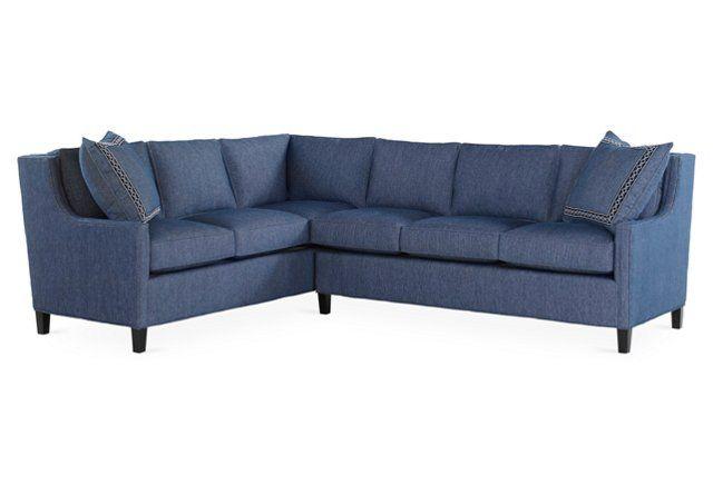 Joie Sectional Indigo Sunbrella Decor Sectional Sofa