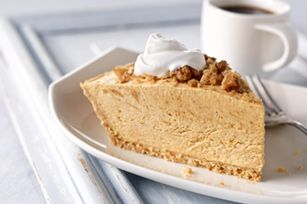 Streusel-Topped Pumpkin Pie recipe      1    cup  canned pumpkin          1-1/4    cups  cold milk          2    pkg.  (3.4 oz. each) JELL-O Cheesecake Flavor Instant Pudding          1    tsp.  pumpkin pie spice          1    tub  (8 oz.) COOL WHIP Whipped Topping, thawed, divided          1      HONEY MAID Graham Pie Crust (6 oz.)          1/4    cup  chopped PLANTERS Walnuts          2    Tbsp.  brown sugar          1    tsp.  butter or margarine