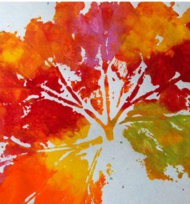 Beautiful autumn decors with fall leaf prints // Gyönyörű faliképek őszi falevél lenyomatokkal  // Mindy - craft tutorial collection