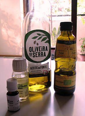 365 coisas que posso fazer...: 199 - Encontrar um substituto vegetal para o óleo mineral que uso depois do duche