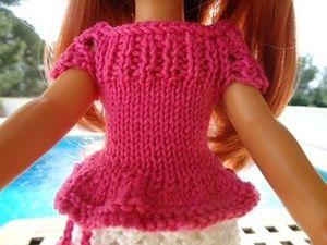 Tuto jupe et top avec manches pour poupée chéries de corolle.