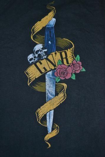 Vintage 1990 GUNS N ROSES Tour Concert promo 90s T-shirt