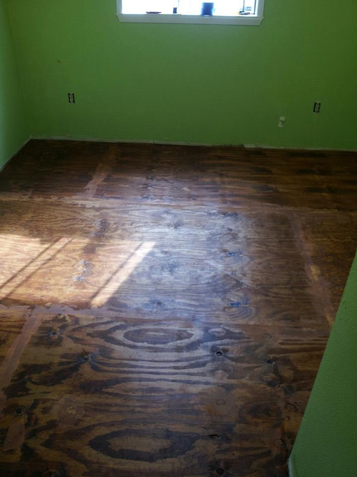 how to clean plywood floors
